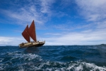 Hōkūle'a preparing to sail around the world, 2014. Photo by `Oiwi TV